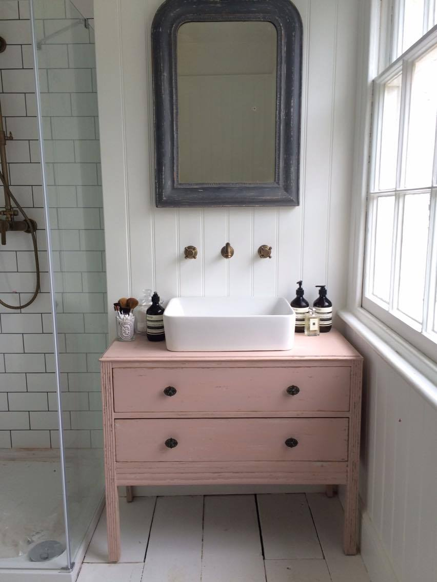 Makeover Turning A Chest Of Drawers Into Bathroom Sink Unit