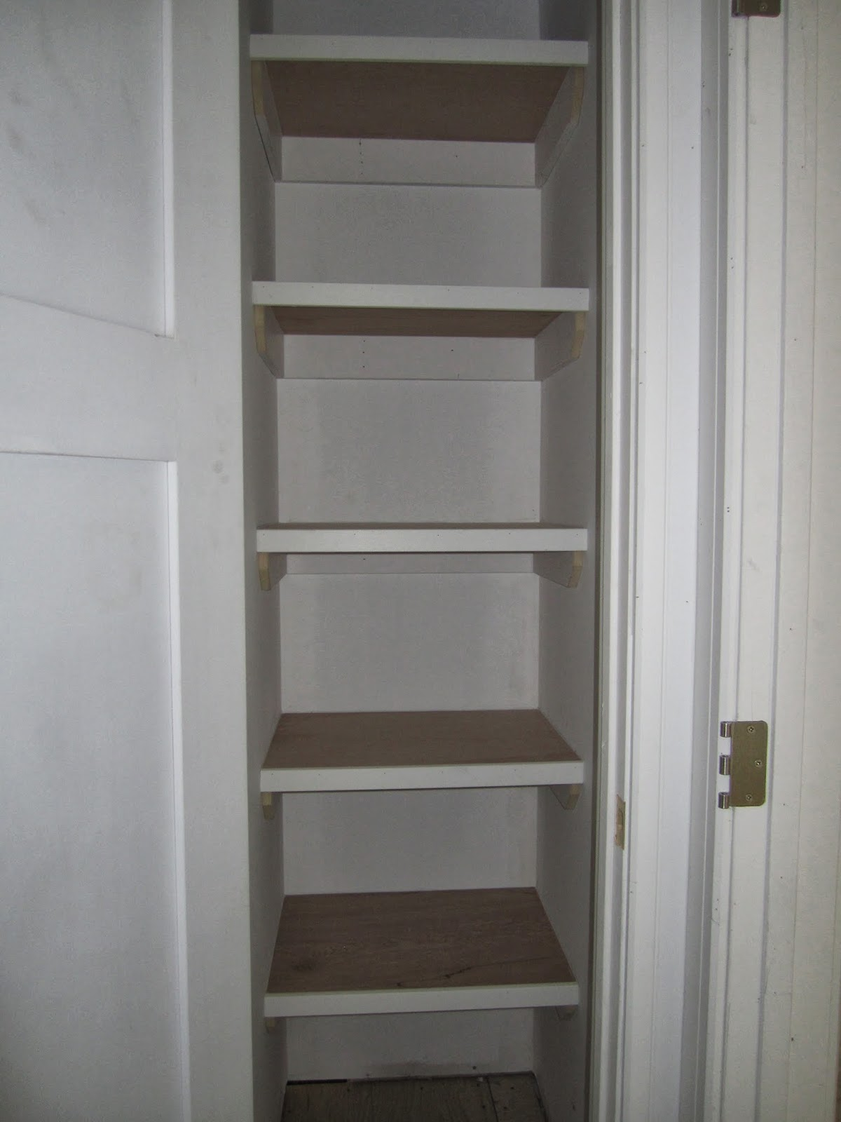 Building An Infill In Westmount Shelves Trim And Paint Oh My