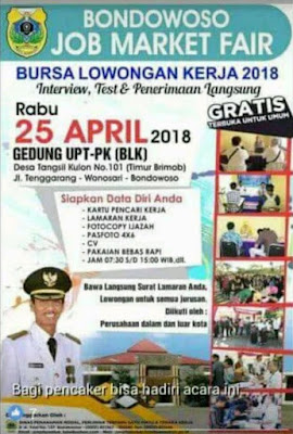 Bondowoso Job Market Fair 2018