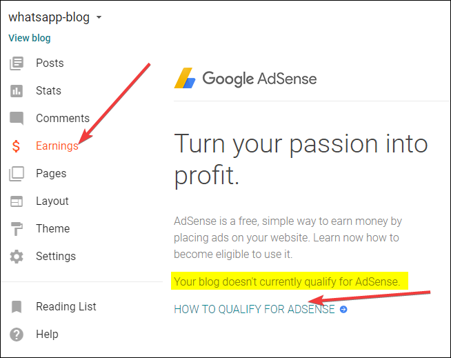 your-blog-does-not-currently-qualify-for-adsense