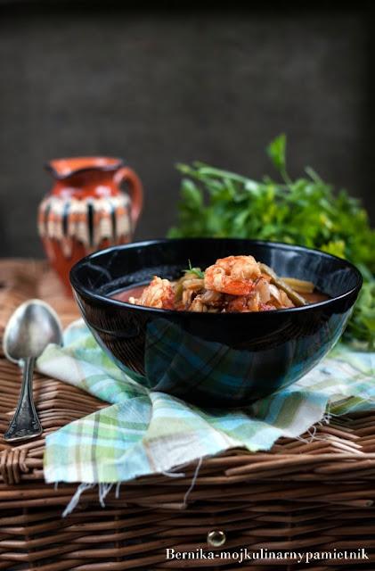zupa, ryby, zupa rybna, krewetki, dorsz, dieta, owoce morza, bernika, kulinarny pamietnik