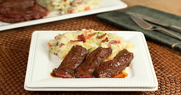 Cabbage And Bacon Colcannon With Irish Whiskey Steak Recipe