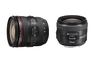 Beberapa hari yang lalu, untuk melengkapi jajaran lensa L-series miliknya, Cannon merilis lensa L-series terbarunya yaitu seri Canon EF 24-70mm f/4L IS USM dan Canon EF 35mm f/2 IS USM. Kedua lensa ini sangat ideal dan dapat di andalkan dengan  jarak fokal 24-70mm pada lensa full frame, Lensa ini menjadi sangat cocok untuk di gunakan para fotografer wedding, landscape atau wartawan foto.  Dengan kelebihan lensa Canon EF 24-70mm f/4L IS USM dan Canon EF 35mm f/2 IS USM ini tentu saja akan menambah lengkap kekayaan system EF Canon, meski melihat harganya masuk level premium atau pro. Lensa EF24-70mm F4L IS USM kabarnya juga akan tersedia sebagai lensa kit dari kamera EOS 6D. Lensa ini terdiri dari dua elemen lensa aspherical yang dipadukan dengan dua lensa UD (Ultra low Dispersion) dan dilapisi lapisan Super Spectra Coating untuk mecengah pantulan cahaya, menjaga akurasi warna dan meminimalisir chromatic aberration.   Tidak seperti lensa Canon pada umumnya, Spesifikasi untuk lensa Canon EF 24-70mm f/4L IS USM dikabarkan hadir dengan kemasan bodi tahan cuaca. Canon EF 24-70mm f/4L IS USM kini hadir dengan sistem IS (Image Stabilizer) yang telah diperbaharui. Sistem IS yang dimilikinya hadir dengan mengabungkan teknologi IS Optical yang menawarkan keuntungan tingkat pencahayaan hingga 4-Stop dan Hybrid IS untuk meredam getaran pada posisi zoom maksimal dan close up. Sementara untuk pergerakkan sistem autofokus yang lebih cepat, akurat, dan tidak berisik, Canon juga telah melengkapinya dengan teknologi USM (Ultrasonic Motor). Selain sistem IS yang lebih baru, satu keunggulan lain dari lensa ini adalah adanya fungsi makro. Meski lensa ini bukanlah lensa makro namun Anda dapat menggunakannya untuk menghasilkan foto makro dengan maksimum perbesaran 0.7x.  Sedangkan lensa Canon EF 35mm f/2 IS USM bakalan cocok untuk foto landscape atau potrait. Lensa ini merupakan lensa 35mm pertama Canon yang hadir dengan teknologi IS, selain dilengkapi teknologi USM (Ultrasonic Motor) untu