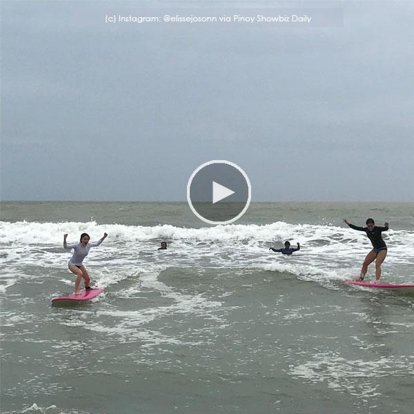 Look: Elisse Joson tries surfing; sustains minor injuries