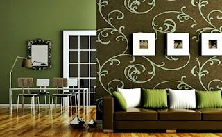 Kumpulan Desain Contoh Gambar Wallpaper Dinding Rumah MInimalis Untuk Ruang Tamu