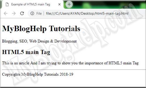 main tag example