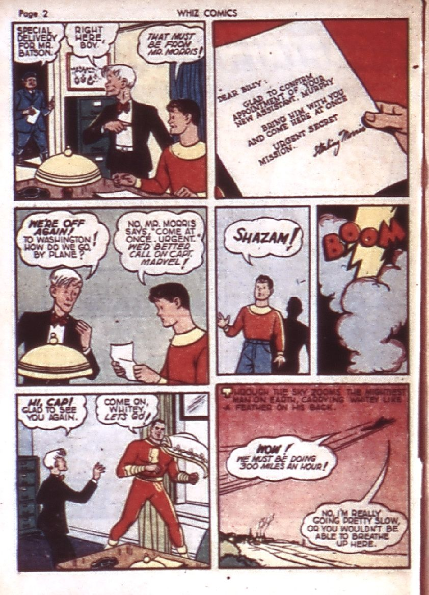 WHIZ Comics issue 23 - Page 4