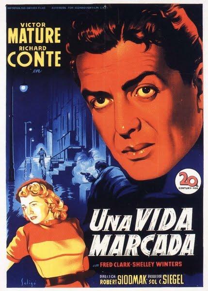 Programa de Cine - Una Vida Marcada - Victor Mature - Richard Conte - Debra Paget