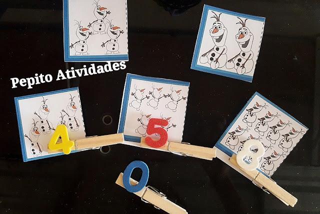 Atividade Número e Quantidade Alfabetização