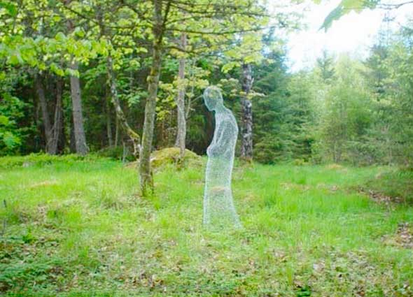 fantasma, alambre, manualidades, halloween, escultura, diys