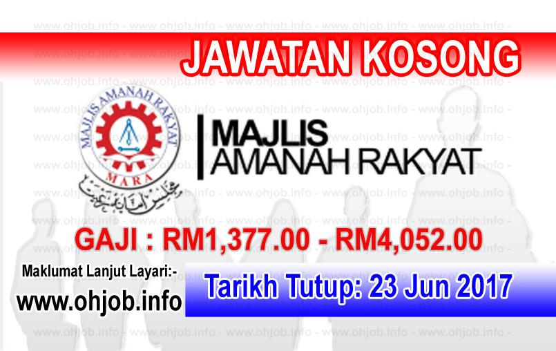 Jawatan Kerja Kosong Majlis Amanah Rakyat - MARA logo www.ohjob.info jun 2017