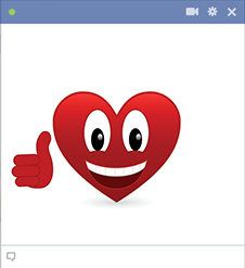 Thumbs up heart emoticon