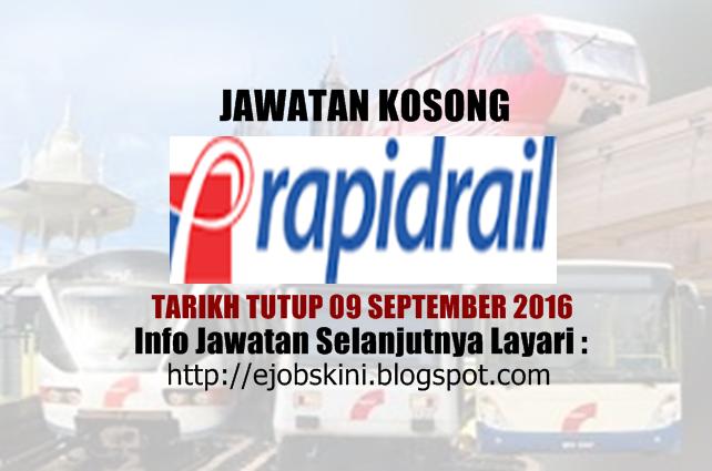 jawatan kosong di rapidrail september 2016
