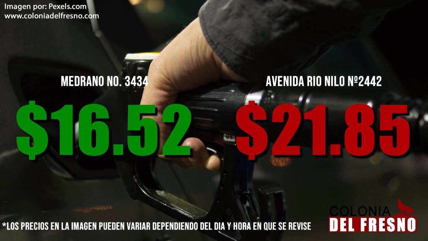 revisa y compara los costos de la gasolina