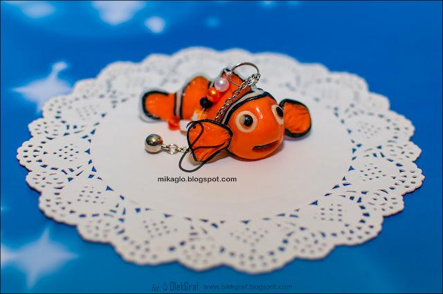 649. Brelok – Nemo z modeliny / Polymer clay Nemo keychain