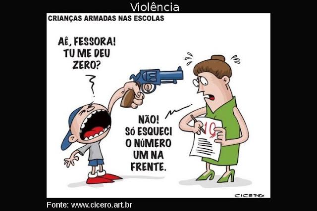 Resultado de imagem para bagunca e violencia nas escolas charges.