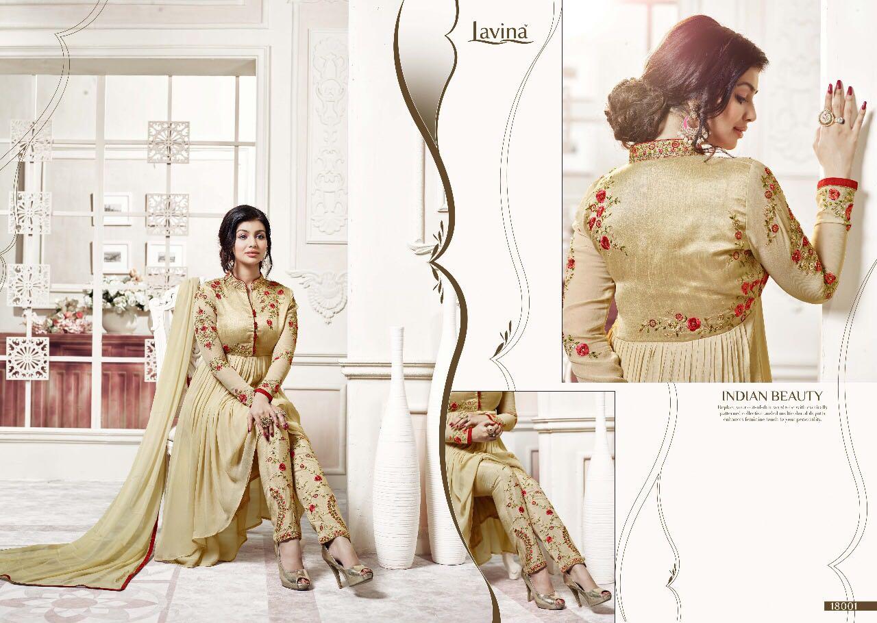 MOTIF-Heavy Designer Semi Stitched Georgette Salwar Suit