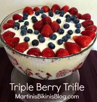 Triple Berry Trifle Martinis Bikinis