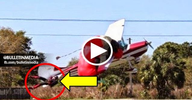 [VIDEO]  Mengerikan! Penerjun Payung Terjun Tersangkut Dengan Kapal Terbang
