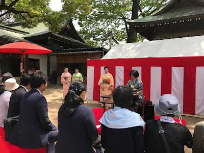 久伊豆神社藤まつり野点(平成29年5月3日)