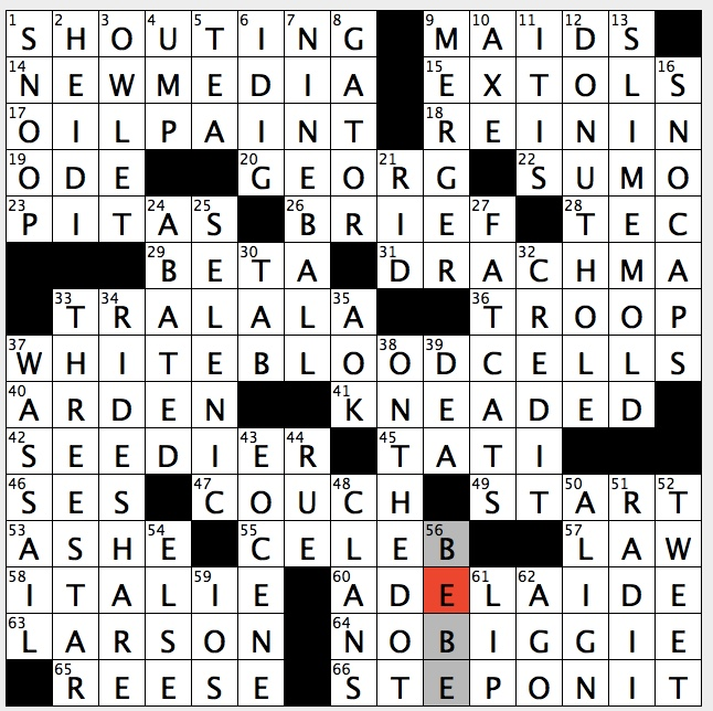 Rex Parker Does The Nyt Crossword Puzzle Older Brother Of Malcolm On Malcom In Middle Fri 11 16 18 Von Trapp Father In Sound Of Music Rexha Pop Singer With 2017