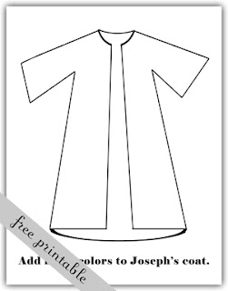 Joseph coat Coloring Pages | Joseph's Coat of Many Colors | Bible ... | 320x251