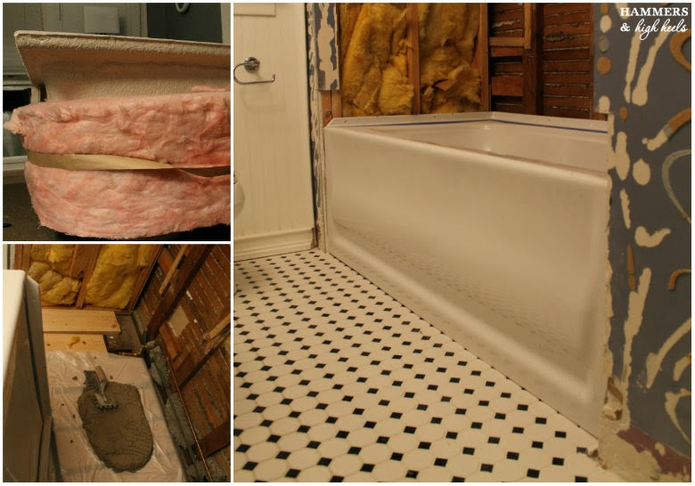Hammers And High Heels Deep Soak Tub Installed Onto