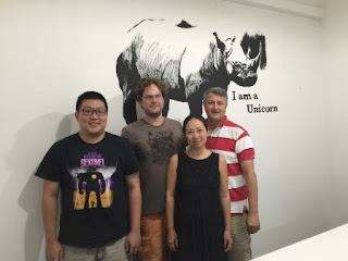 From left, the ImageCrowd team: Ou Shiwei, Waverijn, Jiang, Wilson.