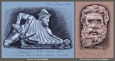 Odysseus and Polyphemus. Ancient Greece. Gardner Museum. MFA, Boston. by Travis Simpkins