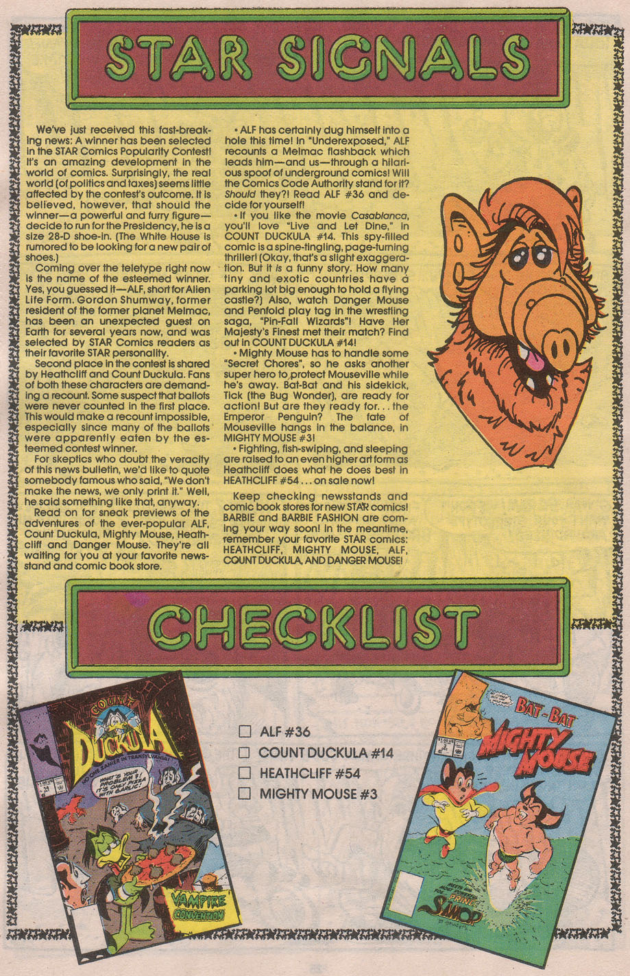 Read online ALF comic -  Issue #36 - 27