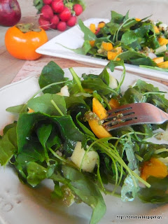 Σαλάτα με σπανάκι, πεκάνς και λωτό