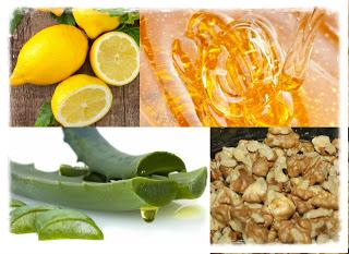 Αλόη-μέλι-λεμόνι- καρύδια-ένας-γενικός-τονωτικός