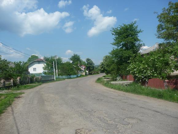 Тисов. Улица Грушевского