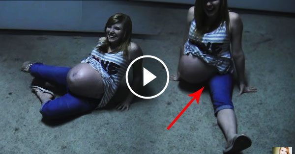 Watch 9-month pregnant do this, then her friends were totally shocked!