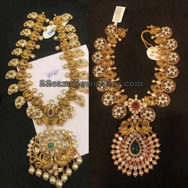 Nakshi Work Mango Floral Necklaces