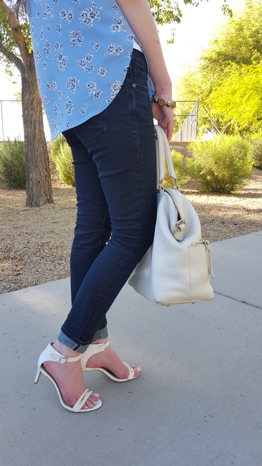 white heeled sandals for Spring