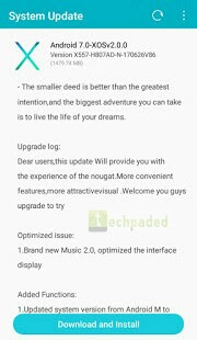 Android 7.0 nougat update for infinix hot 4 x557