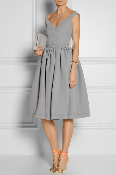 satin-crepe dress