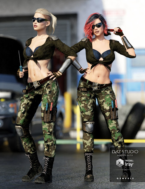 The Mechanic Outfit for Genesis 3 Female