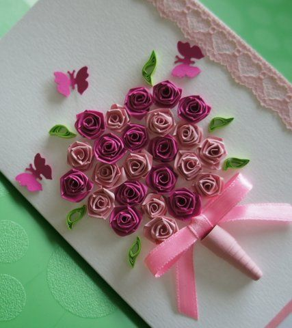Pictures of paper quilling art arts and crafts to make for Paper quilling art projects