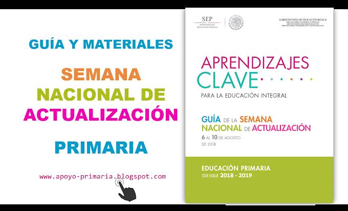 Guía y materiales de la Semana Nacional de Actualización para Primaria
