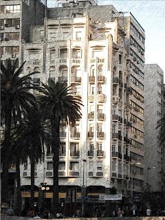 Entorno da Plaza Independencia de Montevidéu