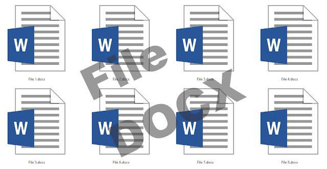 Penertian file DOCX, cara membuat dan membuka