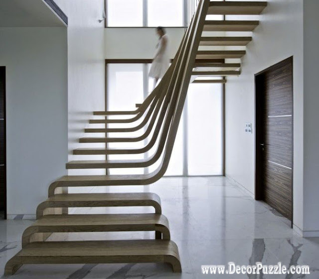 Interior Home Decoration Indoor Stairs Design Pictures: Classy Contemporary Internal Staircase Designs And
