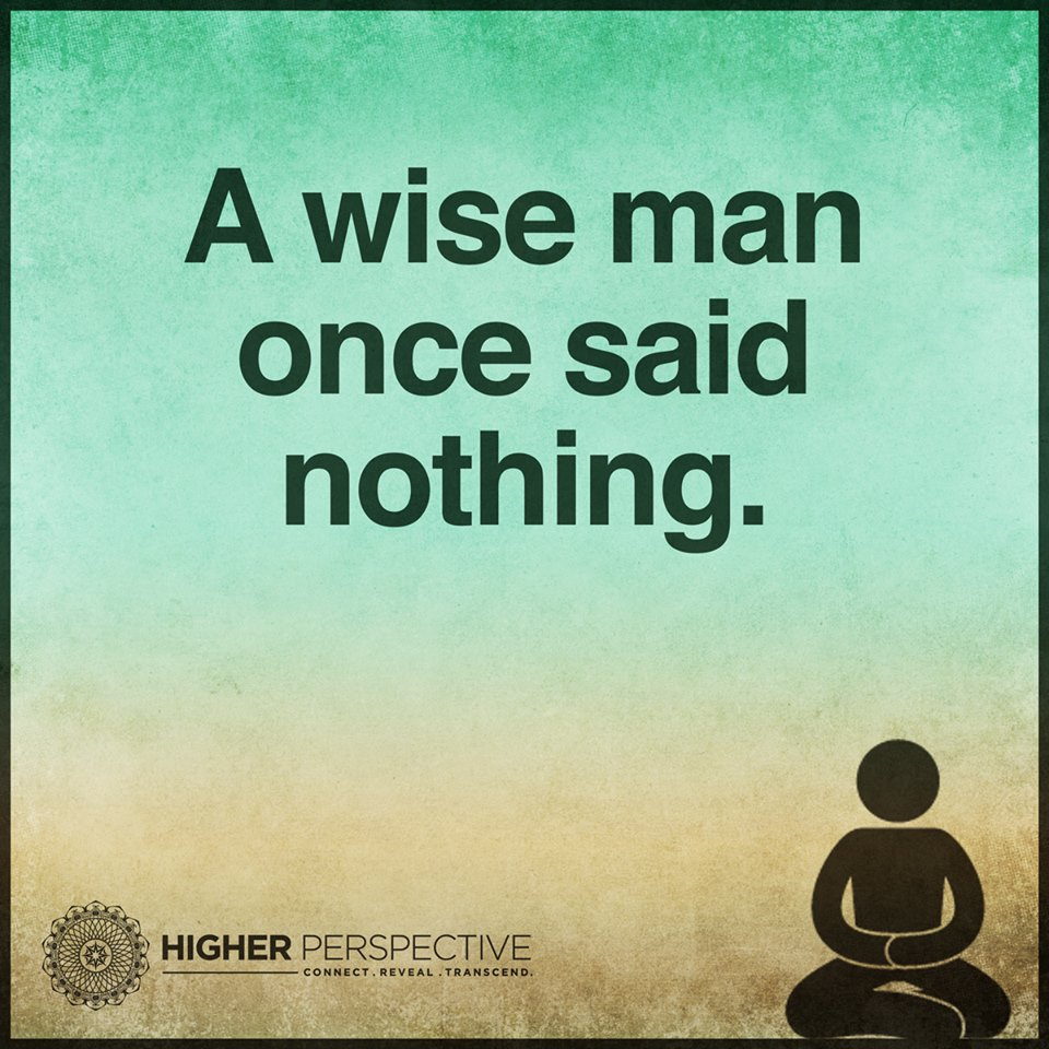 A Wise Man Once Said Nothing Best Life Quotes
