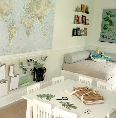 decorar con mapas habitción infantil, mapas para niños
