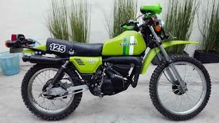 Kawasaki ke 125 trail klasik
