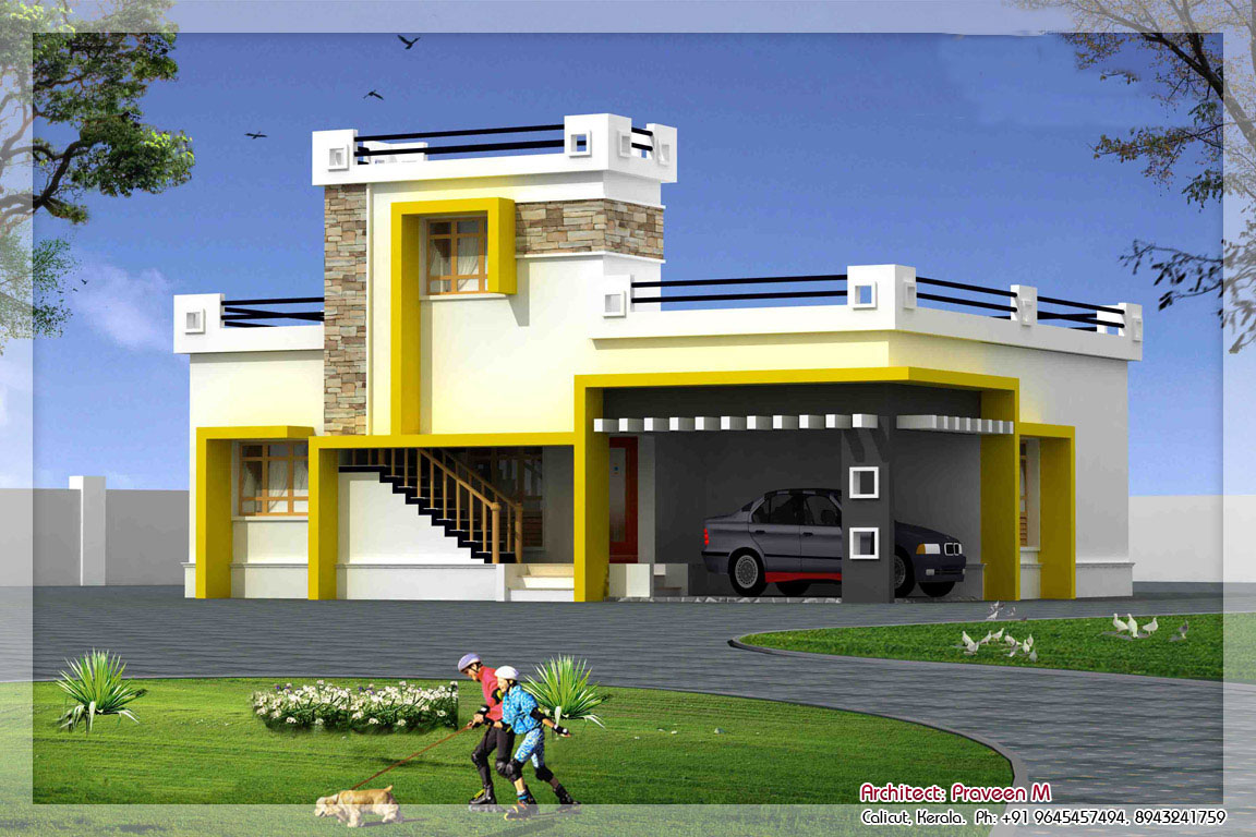 simple indian house design - Modern House Designs Single Floor