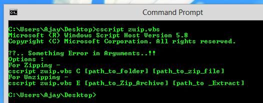 Sec-Art: Compress Folders via Command line using VBscript