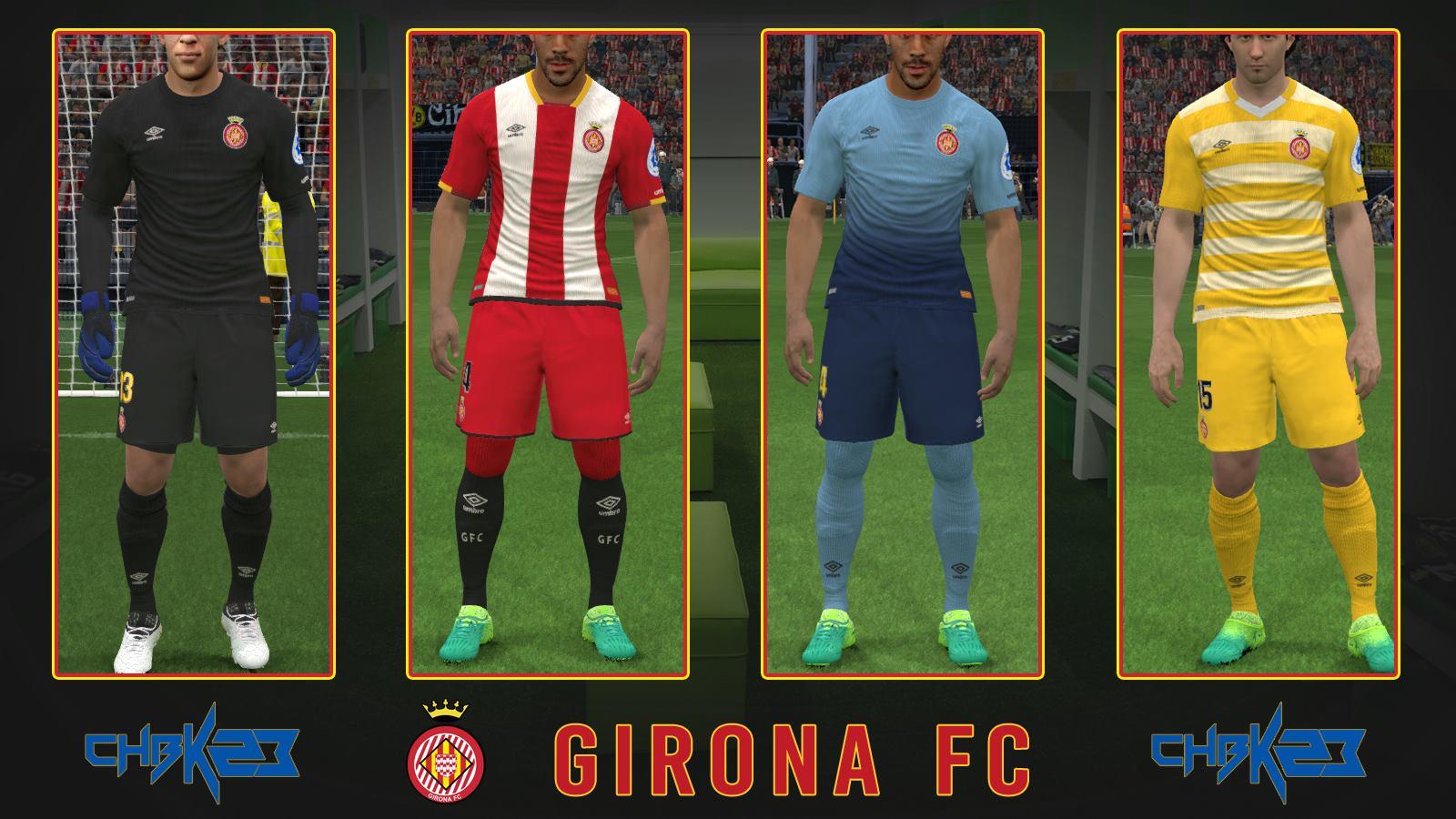 PES 2017 Kitset 2017/18 Girona FC  by Charliebk23